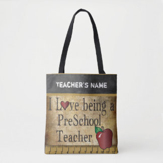 Love Being a PreSchool Teacher | DIY Name Tote Bag