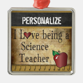 Love being a Science Teacher | Vintage Metal Ornament