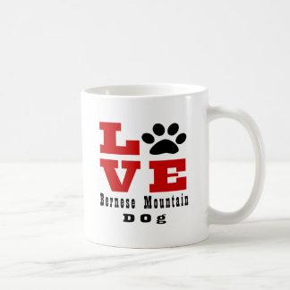 Love Bernese Mountain Dog Dog Designes Coffee Mug