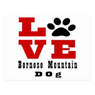 Love Bernese Mountain Dog Dog Designes Postcard