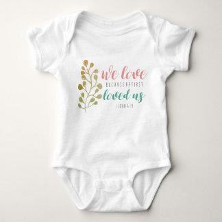 Love Bible Verse Christian CUTE BABY Baby Bodysuit