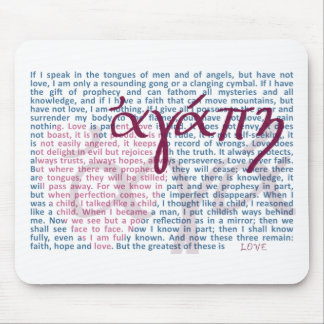 Love Bible Verse on Christian Mouse Pad
