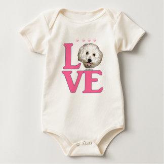 LOVE Bichon Frise Baby Bodysuit