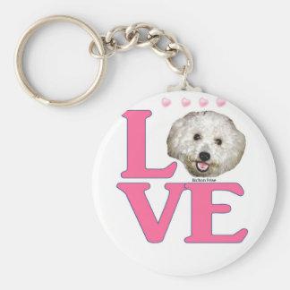 LOVE Bichon Frise Key Ring