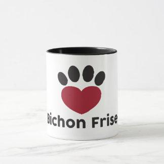 Love Bichon Frise mug
