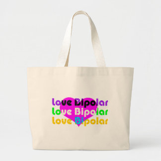 love bipolar Halftone Canvas Bags