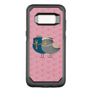 Love Bird Couple Cute Cartoon Heart Pattern Pink OtterBox Commuter Samsung Galaxy S8 Case