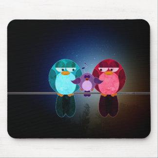 Love Bird Familly Mousepads