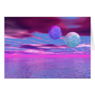 Love Birds - Abstract Pink and Purple Passion Card