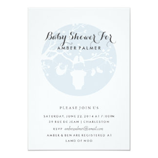 "Love Birds Baby Shower Invitation 5"" X 7"" Invitation Card"
