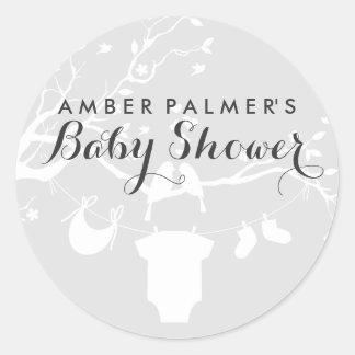 Love Birds Baby Shower Sticker