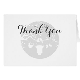 Love Birds Baby Shower Thank You Card