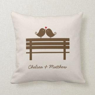 Love Birds Bench {red} Cushion