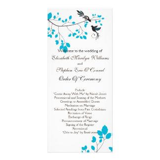 Love Birds Blue Personalised Rack Card