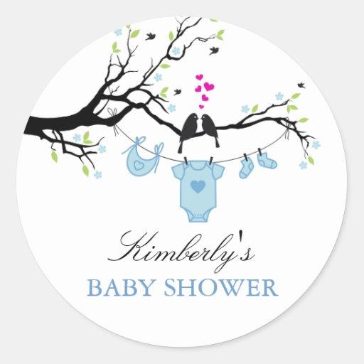 Love Birds | Boy Baby Shower Sticker