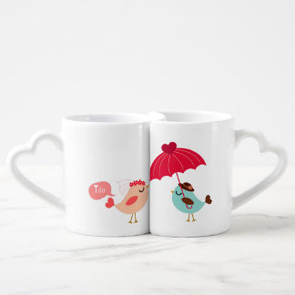 Love Birds Bride and Groom Lovers Mugs