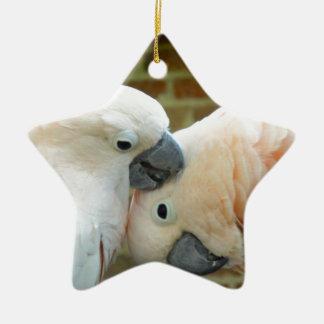 Love Birds Ceramic Star Decoration