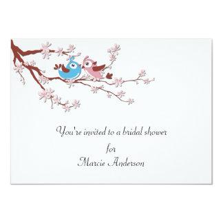 Love Birds Cherry Blossoms Bridal Shower Invite