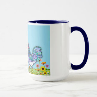 Love Birds-Country Rooster and Hen Mug