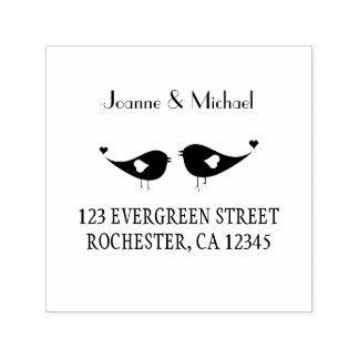 Love birds custom wedding selfinking stamp