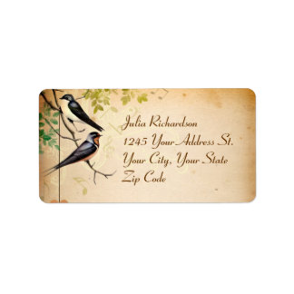 love birds cute sweet romantic wedding labels