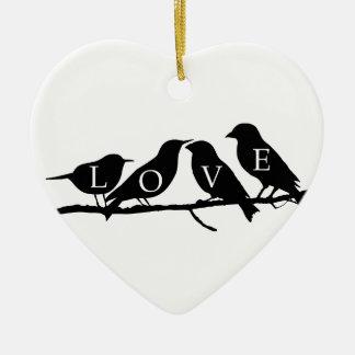 Love Birds Christmas Ornaments