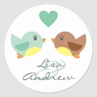 Love Birds Engagement Announcement Sticker