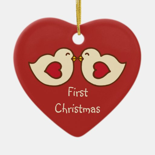 Love Birds First Christmas Ornament