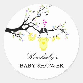 Love Birds   Gender Neutral Baby Shower Sticker