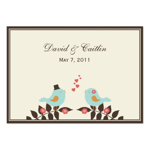 Love Birds Gift Tags/Attachment Cards Business Card Templates