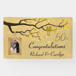 Love Birds Golden Anniversary Banner