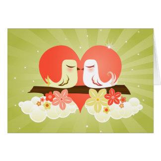 Love Birds - Green Card