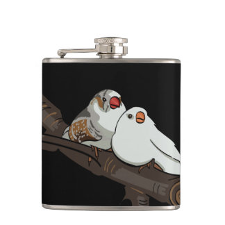 Love Birds Hip Flask