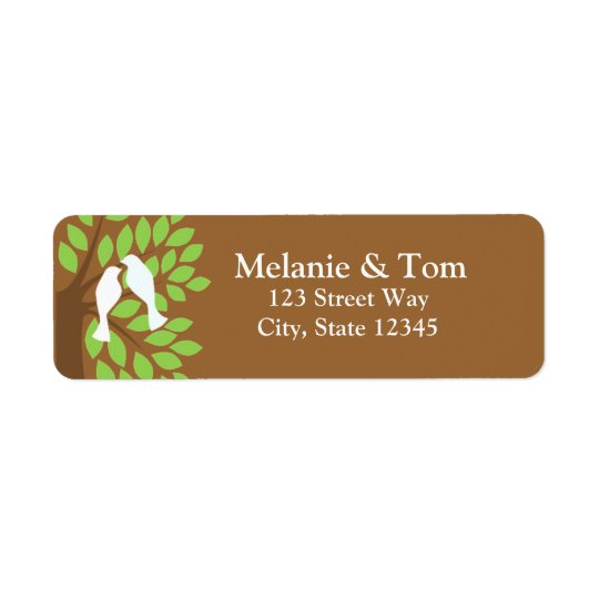 Love Birds In Tree Return Address Label
