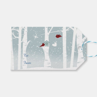 Love Birds in Winter Gift Tags