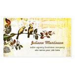 love birds music notes vintage business card standard business cards