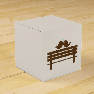 Love Birds on Park Bench {mint} Favour Box