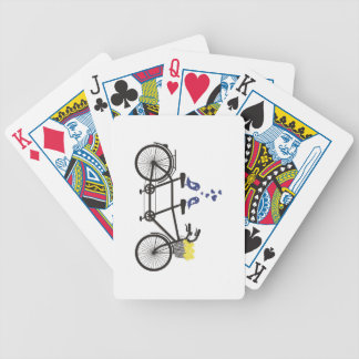love birds on tandem bike - playing cards