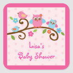 Love Birds Owl Stickers Labels