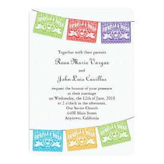Love Birds Papel Picado Banners Wedding Invitation