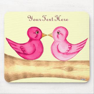 Love Birds (Pink) Mousepad