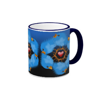 LOVE BIRDS RINGER MUG