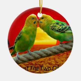 Love Birds Round Ceramic Decoration
