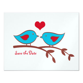 Love Birds Save the Date Invitation