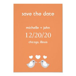 Love Birds Save The Date Version A (Orange) Invites