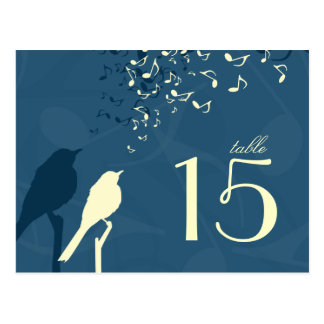 Love Birds Song - table number Postcard