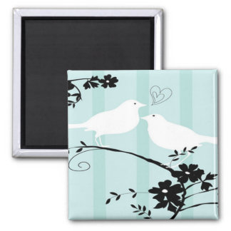 Love Birds Square Magnet
