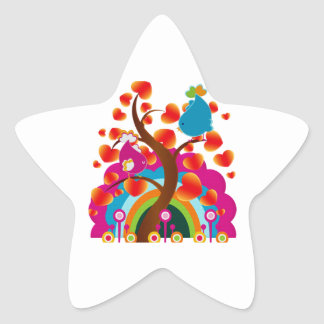 Love Birds Star Sticker