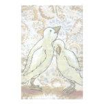 Love birds stationary perfect couple romantic art