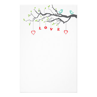 Love Birds Stationery Paper